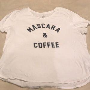 'Mascara and Coffee' graphic tee
